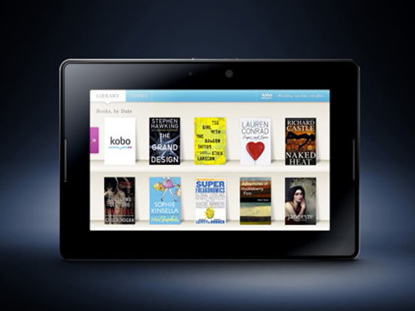 blackberry playbook koboshelf1 CES dumps Six Foot Deep Drifts of Ebook Reader Products